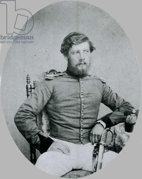 Lieutenant Harry North Dalrymple Prendergast VC, Madras Engineers, 1860 circa (b/w photo)