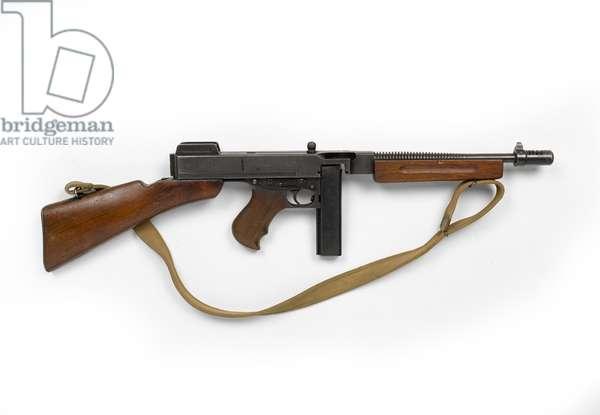 Thompson M1928A1 .45 inch sub-machine gun, c.1939 (sub machine gun, Thompson, .45 in M1928A1)