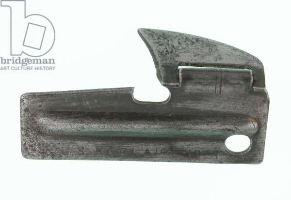 Can opener from United States Army 'C' ration, c.1950 (opener)
