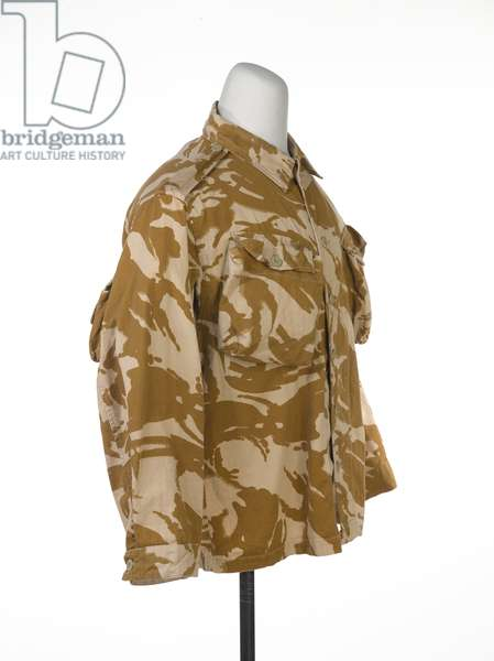 Desert disruptive pattern combat jacket worn by Major M Graham, 1990 circa (fabric)