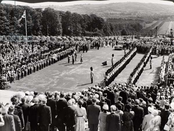 State Visit to Northern Ireland of Her Majesty Queen Elizabeth II and His Royal Highness The Duke of Edinburgh 29th June 1953 - 4th July 1953 (b/w photo)