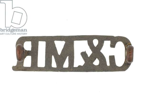 Shoulder title, Coorg and Mysore Rifles, 1884-1917 and 1933-1947 (metal)