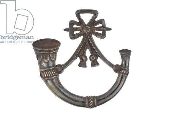 Pouch badge, Allahabad Volunteer Rifles, 1871-1917 (metal)