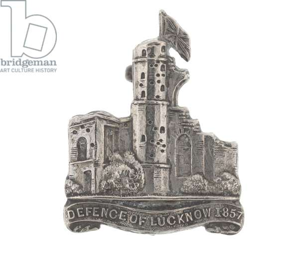 Collar badge, No 13 (Lucknow) Field Battery, Lucknow Rifles, 1933-1947 (metal)