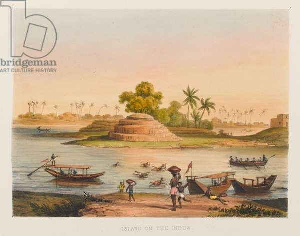 'Island on the Indus'', 1838 circa (coloured lithograph)