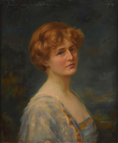 Dame Florence Simpson DBE, 1914 (oil on canvas)