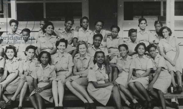 A West Indian detachment of the Auxiliary Territorial Service, c.1943 (b/w photo)