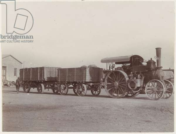 Traction engine, 1902 (b/w photo)