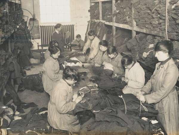 Women in a uniform store, 1917-18 (b/w photo)