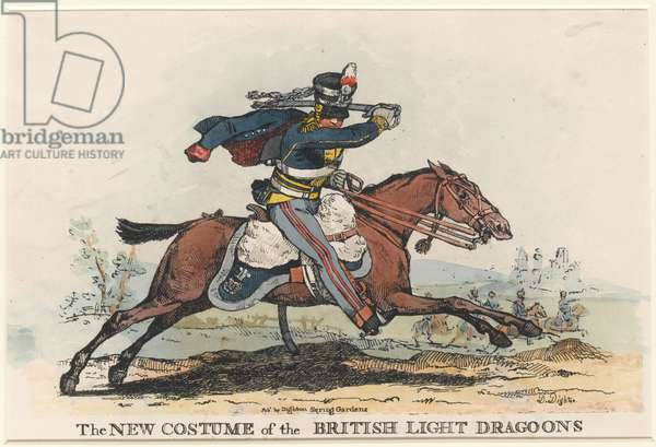 'The New Costume of the British Light Dragoons' (etching)