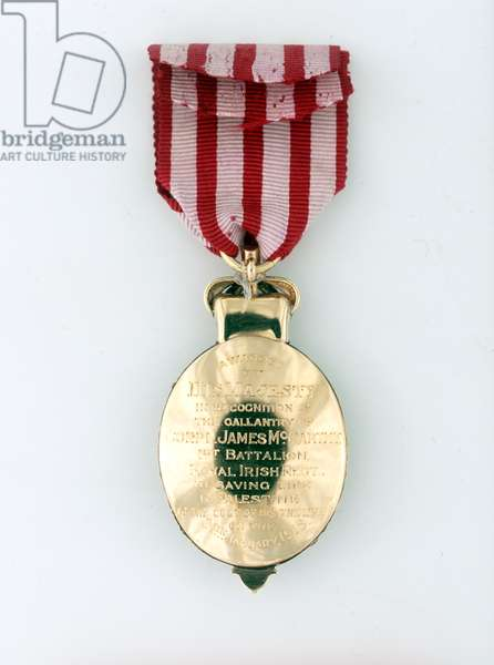 Albert Medal in Gold, awarded to Corporal James Mc Carthy, 1st Battalion, Royal Irish Regiment, 24 January 1918  (metal)