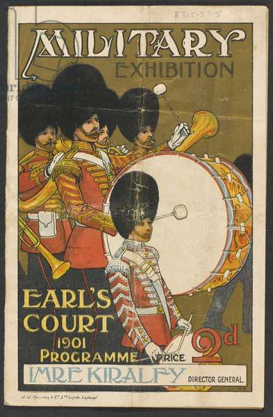 Programme for Military Exhibition, Earl's Court, 1901 (colour litho)