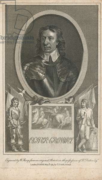Oliver Cromwell, c.1645 (line engraving)