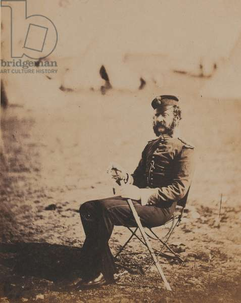 Major Butler, 28th (The North Gloucestershire) Regiment of Foot, 1855 (b/w photo)