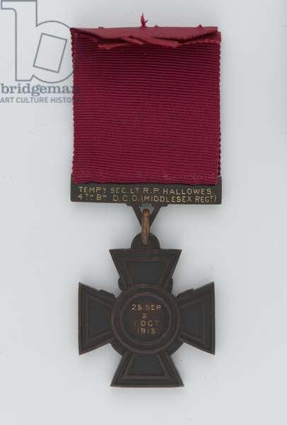 Victoria Cross, 2nd Lieutenant R P Hallowes, Duke of Cambridge's Own (Middlesex Regiment), 1915 (metal)
