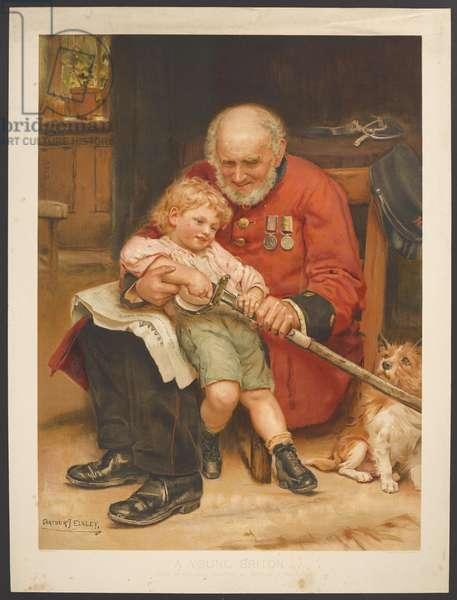 A Young Briton, 1895 (colour litho)