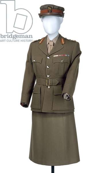 Uniform worn by Princess Elizabeth, Women's Royal Army Corps, 1949-1953 (fabric)