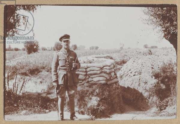 Captain Percy Ingpen, 1/8th Battalion The Duke of Cambridge's Own (Middlesex Regiment), 1915 (b/w photo)