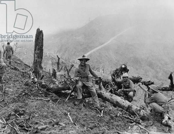 The capture of 'Scraggy' during the Imphal-Kohima battle, 1944 (b/w photo)