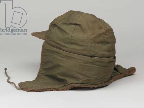 United States Army cold weather pile cap, 1950 circa (fabric)