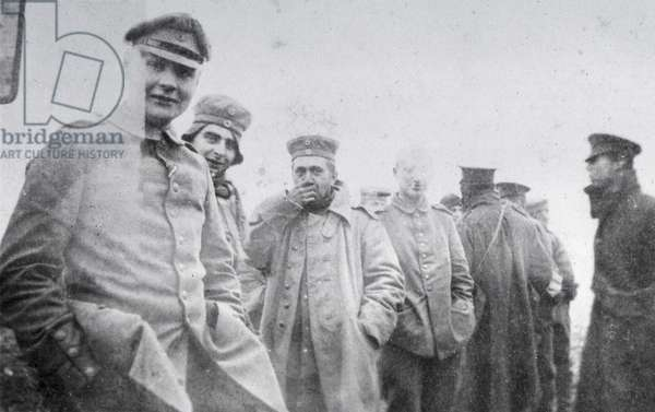 'Some of Our Enemies', The Christmas Day Truce of 1914 (b/w photo)