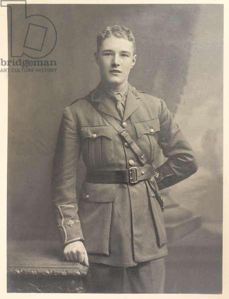Second Lieutenant James Lindsay Sutherland, 23rd Battalion Middlesex Regiment, December 1915 (b/w photo)
