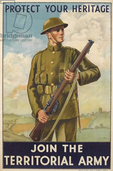 Protect Your Heritage: Join the Territorial Army, 1920 (colour litho)