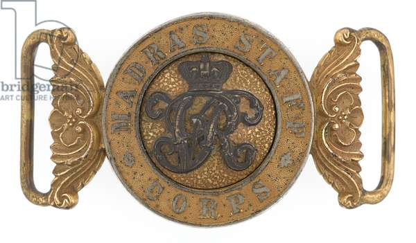 Waistbelt clasp, Madras Staff Corps, 1870-1876 (waistbelt clasp)