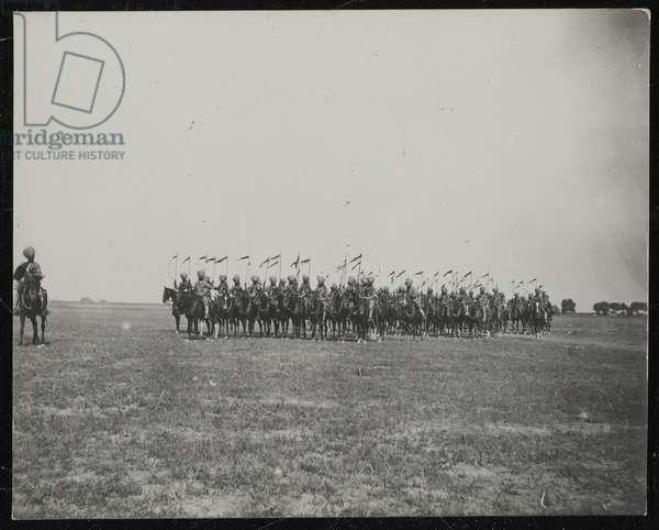6th Regiment of Bengal Lancers, c.1900 (b/w photo)