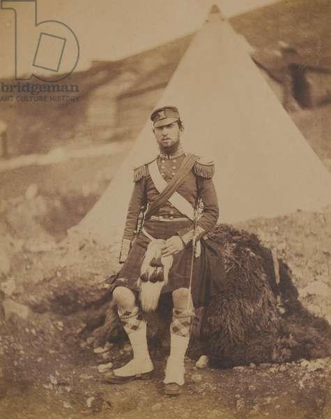 Captain Frank Cunningham Scott, 42nd (Royal Highland) Regiment of Foot, 1855 (b/w photo)