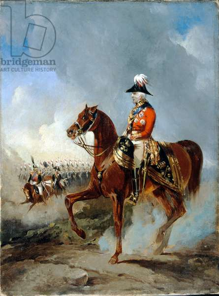 Duke of Wellington at the Grand Review in Windsor Great Park, 5 June 1844 (oil on canvas)