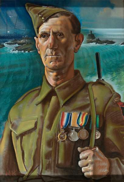 Sergeant Bluett, Cornwall Home Guard, 1943 (pastel)