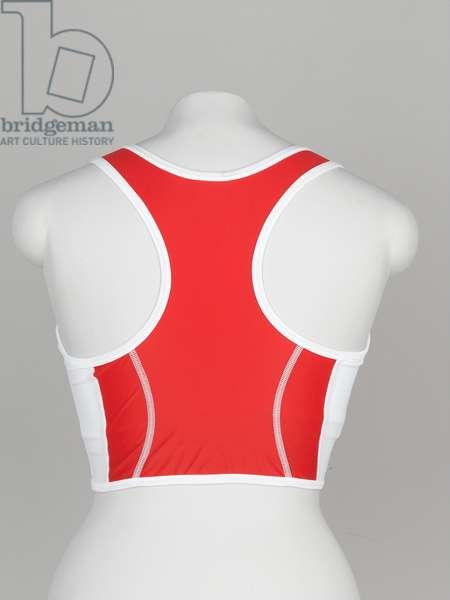 Physical training shirt, Kelly Holmes, England Commonwealth Games Team, 1998 (fabric)