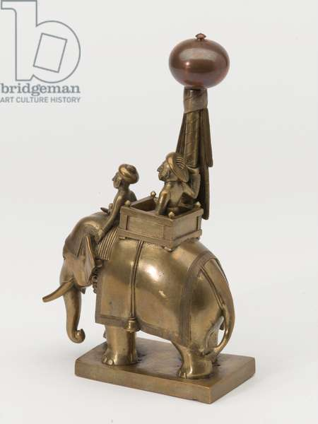 Bronze figurine of a Maharajah and mahout on an elephant, 1795 circa (bronze)