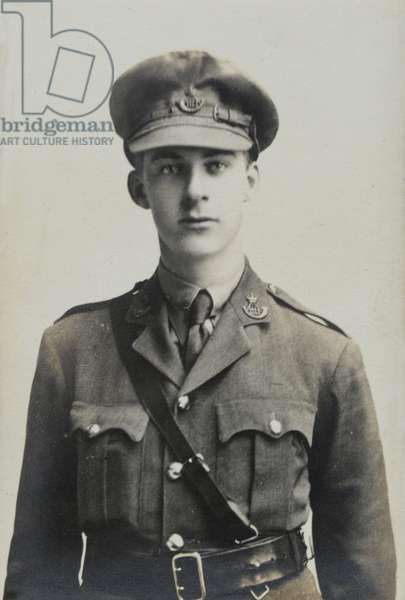 Captain Dennis Ely, 15th Battalion The Durham Light Infantry, 1915 circa (b/w photo)