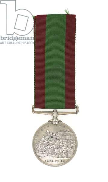 2nd Afghan War Medal 1878-80, awarded to Major General Euston Henry Sartorius, 59th (2nd Nottinghamshire) Regiment (metal)