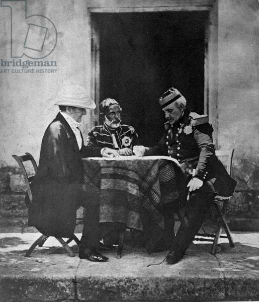 Council of War held on the morning of the taking of Mamelon, 1855 (b/w photo)