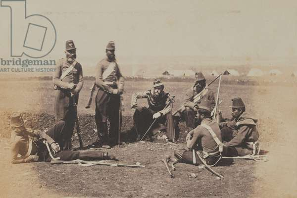 Chasseurs d'Afrique (b/w photo)