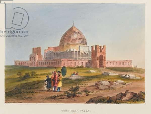 'Tomb Near Tatta', 1838 circa (coloured lithograph)