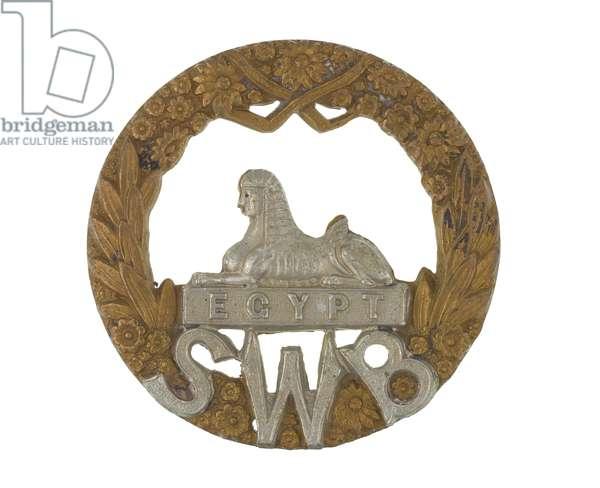 Cap badge, c.1896-1964 (metal)