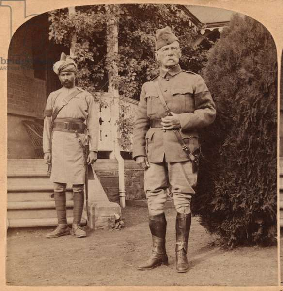 Lord Roberts, British Commander-in-Chief, South Africa, 1899 (b/w photo)