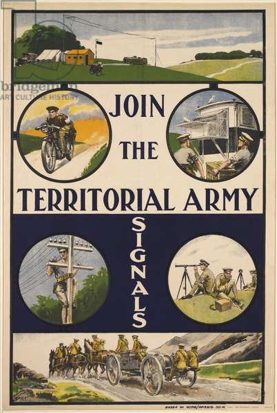 Join the Territorial Army Signals, 1920 (colour litho)