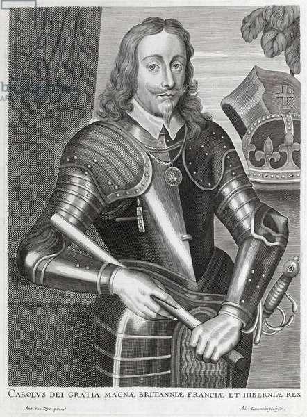 'Carolus dei Gratia Magnae Britanniae, Franciae et Hiberniae' (line engraving)