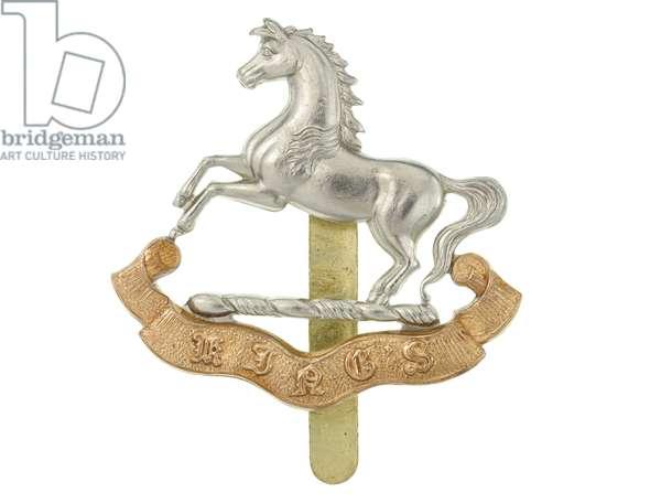 Cap badge, 1927-40 (metal)