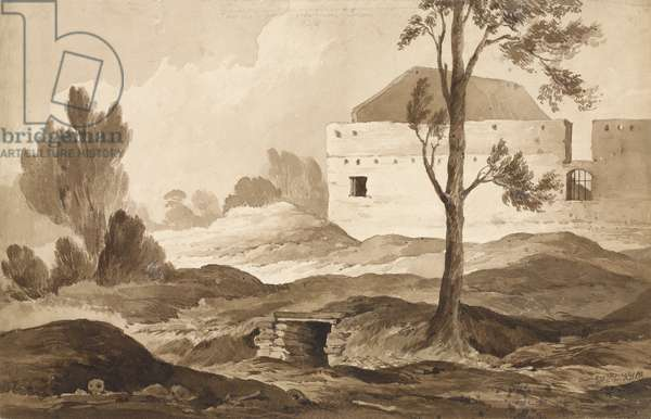 'No 9 Farme du Gourman from the Right', 1815 (w/c & pencil on paper)
