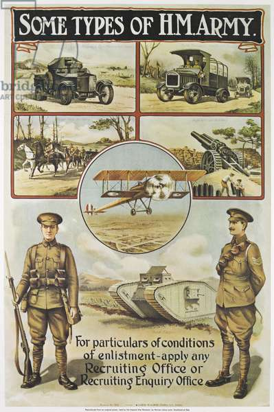 Some Types of H M Army, c.1984 (colour litho)