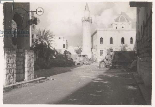 View of Benghazi, Libya; from an album of 351 photographs compiled by Bdr William Samuel Hoare (b/w photo)