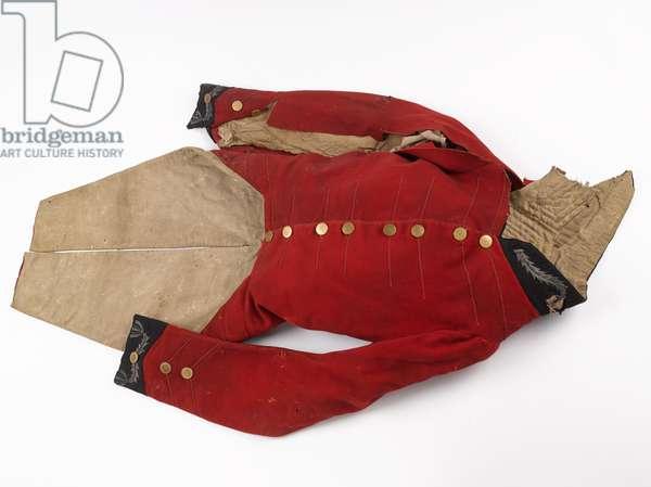 Coatee belonging to Lieutenant-Colonel Sir Thomas Noel Harris KH, 1815 circa (fabric)