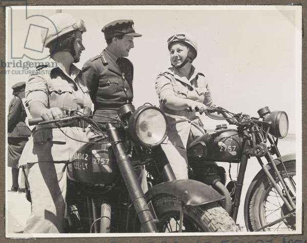 Photograph from an album containing 65 photographs relating to the Auxiliary Territorial Service and British Forces in the Middle East, 1942-45 (b/w photo)
