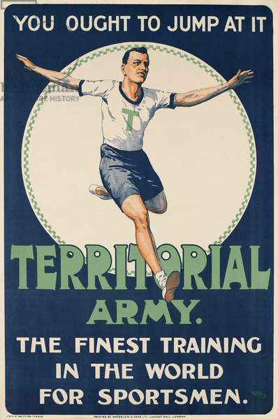 Territorial Army - You ought to jump at it, c.1919-20 (colour litho)